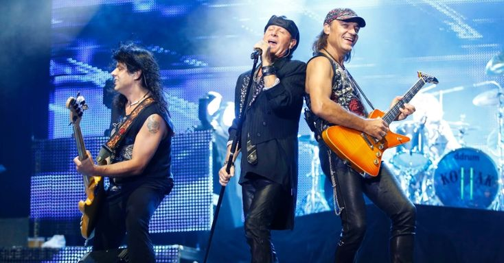 "Pawel Maciwoda, Klaus Meine & Matthias Jabs ""Final Sting Tour 2012"" Belo Horizonte, Brazil (11/9/12)"