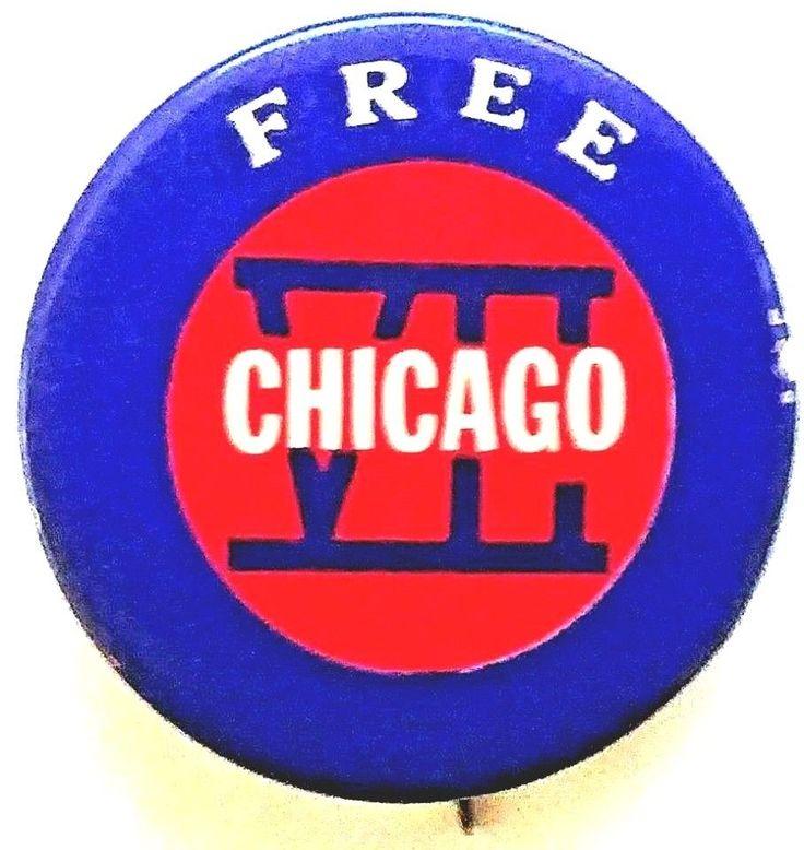 CHICAGO 7 Conspiracy Trial button 1969-1970 Abbie Hoffman, Tom Hayden - MINT