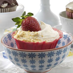 Strawberry Cheesecake Cupcakes Recipe from Taste of Home