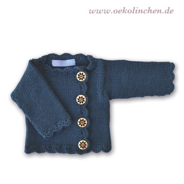 Strickjacke 'Anna' Merino-Wolle - Jacken von Oekolinchen - Jacken - Babykleidung - DaWanda