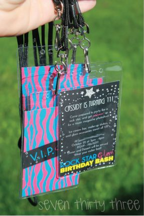 seven thirty three - - - a creative blog: Rock Star Glam Tween Birthday Party