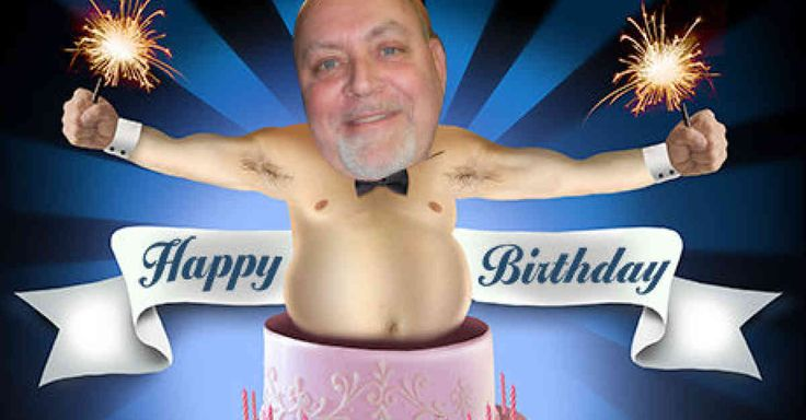 As this personalized photo e-card proves, a birthday cake is like a man.  Even better when there's more of it to love!