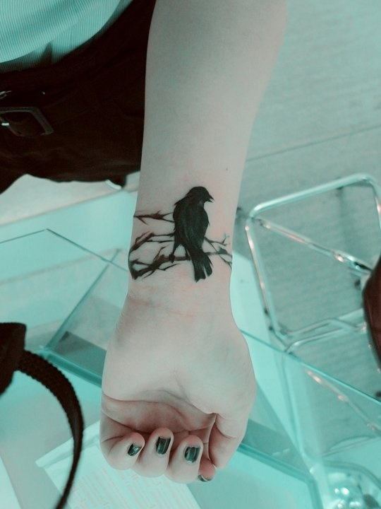 Crow Tattoo.