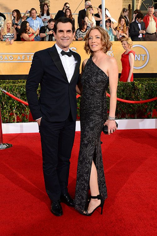 Ty Burrell and wife Holly #SAGAwards #STYLAMERICAN