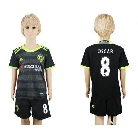 Chelsea Fotbollskläder Barn 16-17 #Oscar Emboaba 8 Bortatröja Kortärmad,248,15KR,shirtshopservice@gmail.com