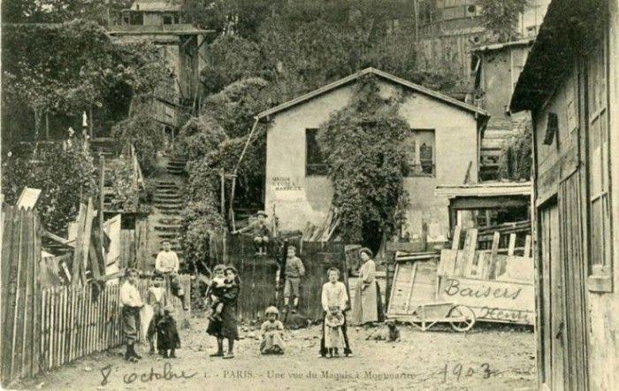 Le maquis de Montmartre en 1903