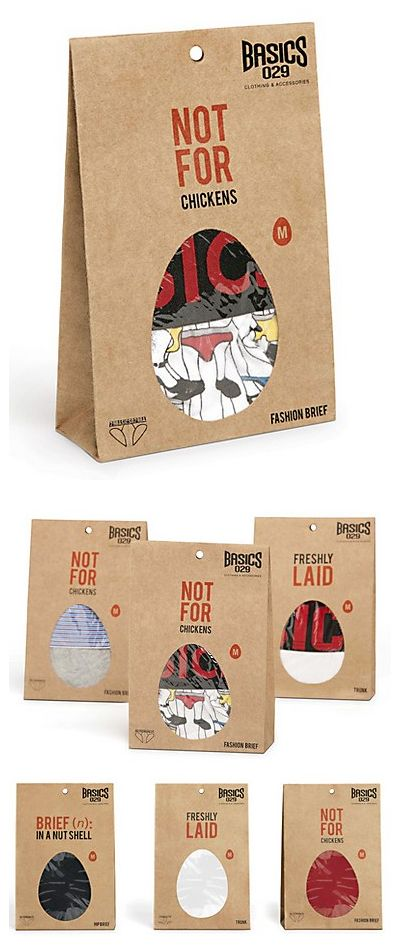 Underwear packaging with a sense of humor