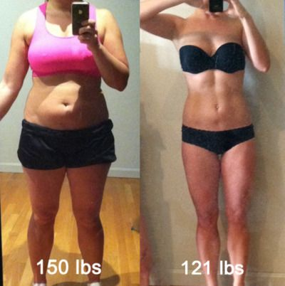 30 day shred, hour of cardio. A really great blog on how she lost the weight.