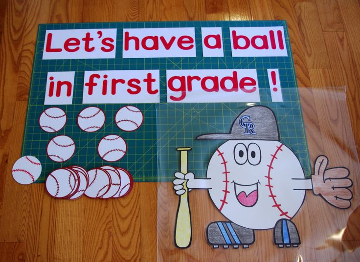 Sports Theme Classroom Bulletin Boards | Classroom Bulletin Board Decor Lets Have a Ball by RoomsAndBoards