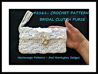 CROCHET PATTERN - BRIDAL CLUTCH PURSE,