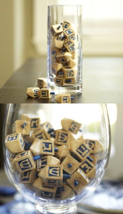 Easy enough - even for me. But good luck finding these teeny dreidels here in GA! Hanukkah Decorations | N Notes