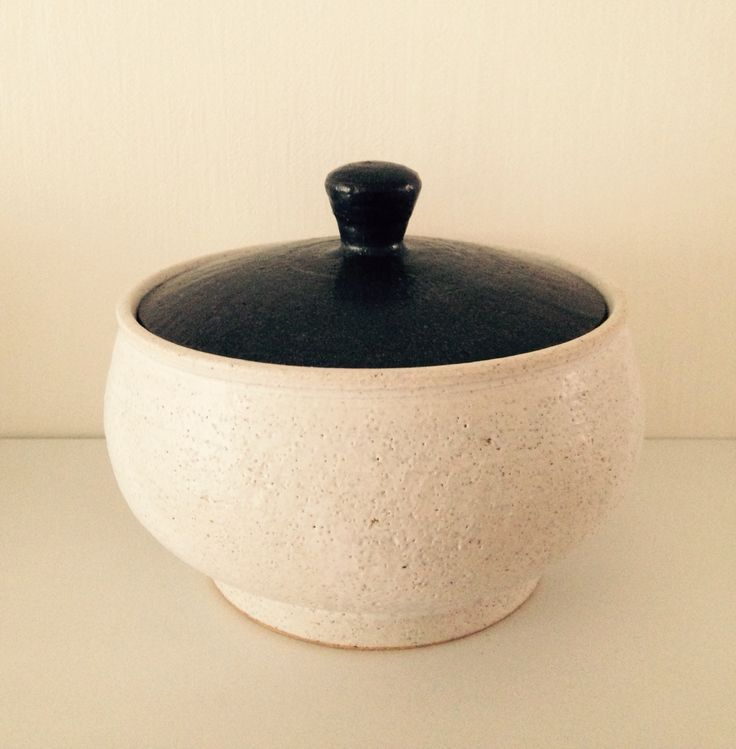 A Pot is made of clay-basedceramic which has been fired to around 1250 C.