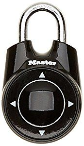 Master Lock One directional combination padlock, for a locker or storage box at school or at the gym - black - 55 mm: Amazon.co.uk: DIY & Tools