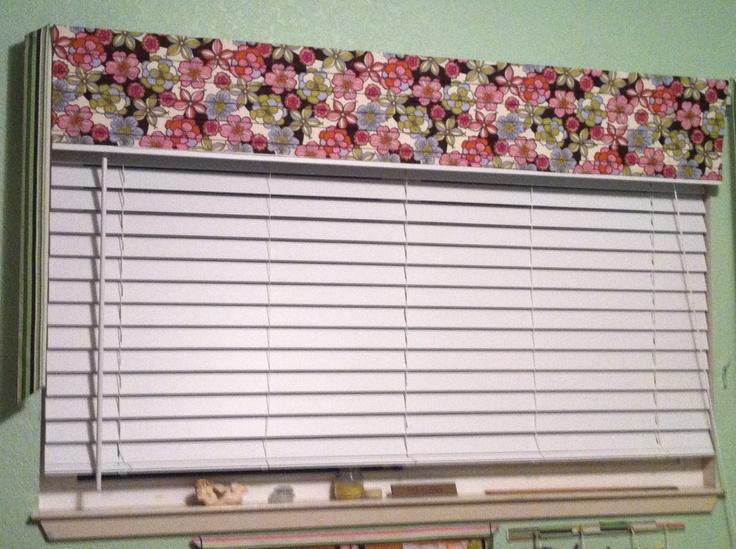 Window Valance From Left Over Mini Blind Slats Do It