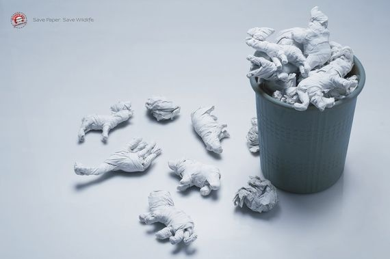 """Save paper. Save wildlife"""