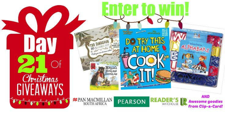 Day 21 Hamper sponsored by Pan Macmillan, Pearson & Clip-a-Card is the perfect hamper for the aspiring chef, filled with everything they'll need to make delicious treats for the whole family. Enter here: https://gleam.io/Hq8bY/day-21-of-christmas-giveaways