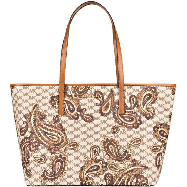 Shopper EMRY LARGE ($420) ❤ liked on Polyvore featuring bags, handbags, tote bags, shopper tote handbags, white purse, shopping tote bags, white tote bag and paisley purse