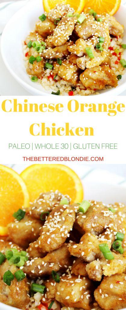 Chinese Orange Chicken - Paleo, Whole 30, and Gluten Free - The Bettered Blondie #paleo #whole30 #glutenfree