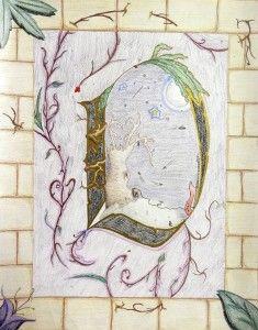 Medieval Illuminated letters...high school art lesson