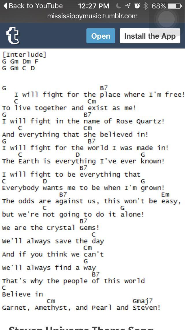 Steven Universe Theme Extended Ukulele pt.2