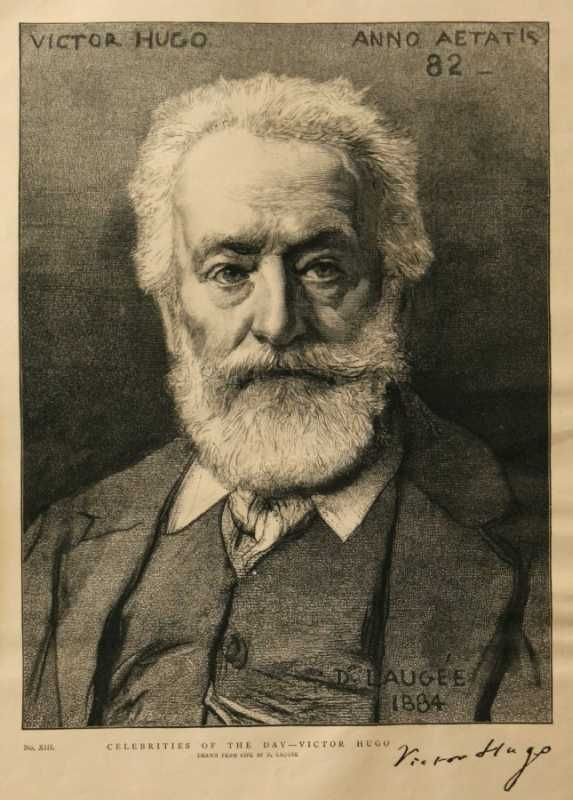 Celebrities Of The Day - Victor Hugo by D. Laugee