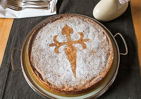Tarta de Santiago - einfacher, Mandelkuchen aus Spanien