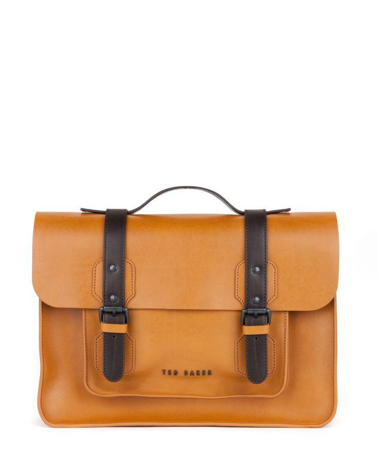 Leather satchel - SKOLDAY - Ted Baker