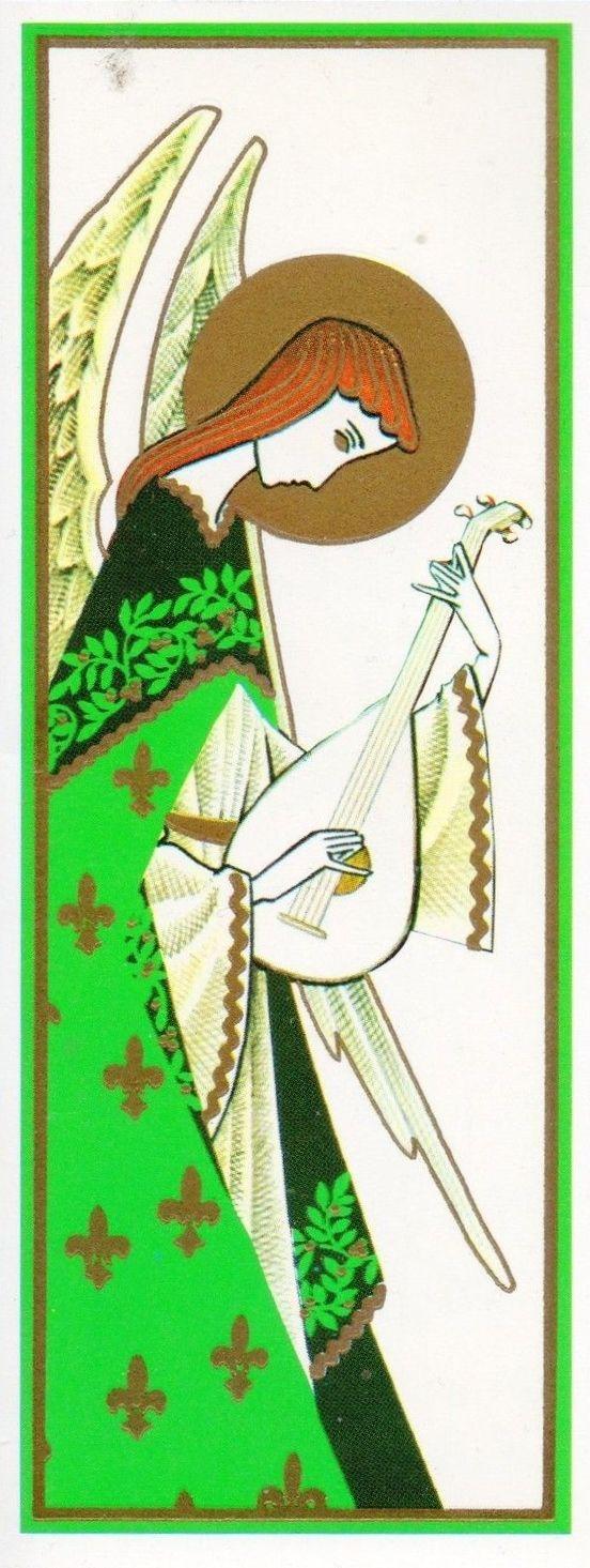 Vintage Mid Century Christmas Angel Card
