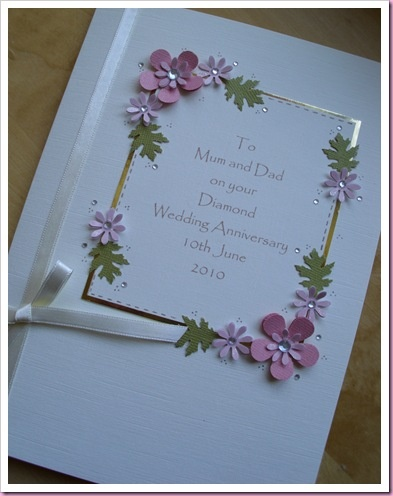 21 best 60th anniversary crafts images on Pinterest Craft, Card - anniversary card free