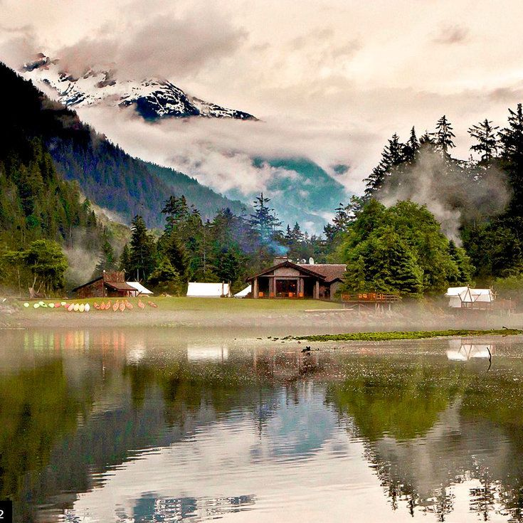 Clayoquot Wilderness Resort, Vancouver Island, B.C. - Top Luxury Tent & Yurt Camping Sites - Sunset