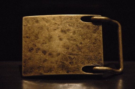 Men's Antique Brass Belt Buckle For Snap by CUERO925LEATHER