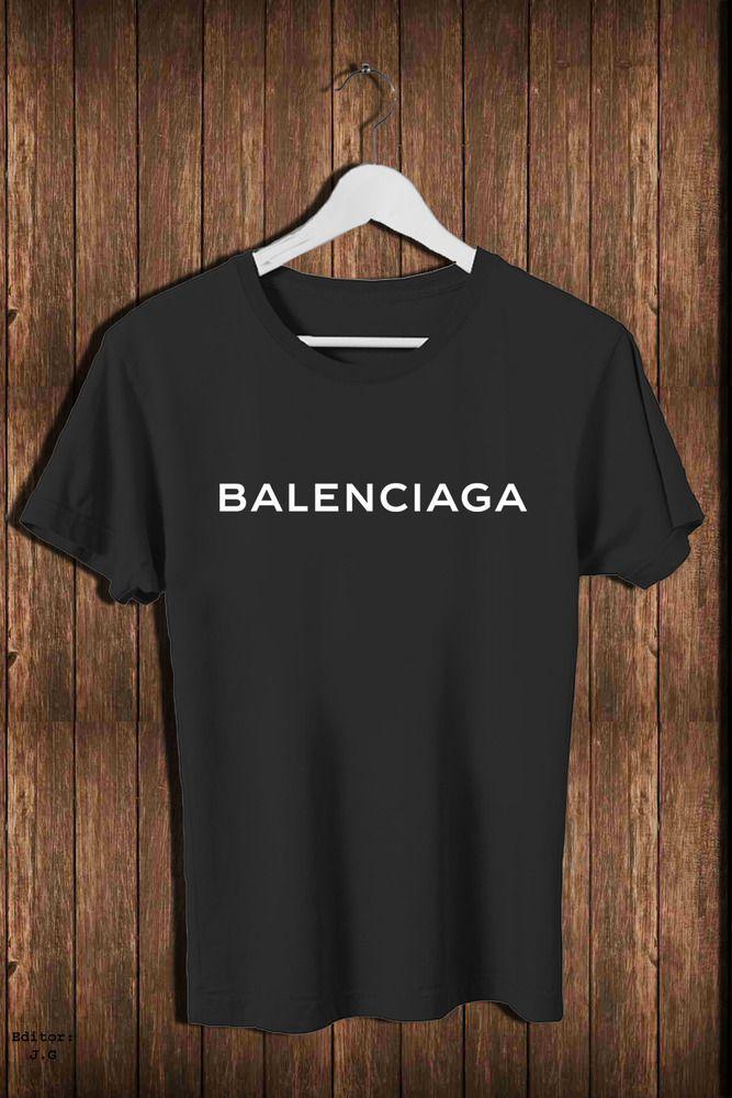 New 1balenciaga66rz Famous Brand Logo Men S T Shirt Casual Tee S 3xl