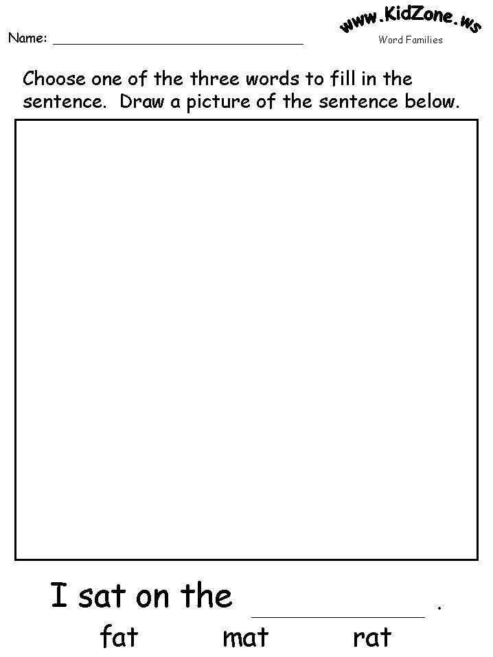 at word fill in the blank sentence and picture classroom stuff family worksheet word. Black Bedroom Furniture Sets. Home Design Ideas