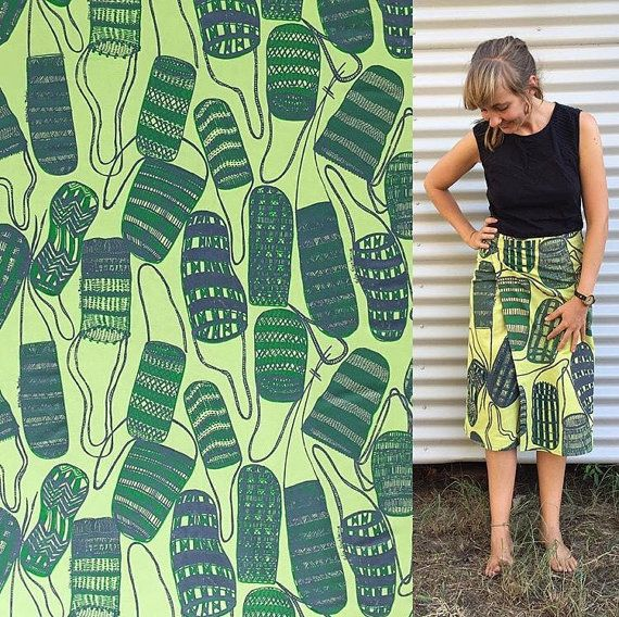 Fabric length Gundjabarrk (Dilly bag) by Injalak Women Artists