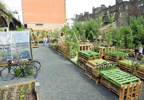 The Union Street Urban Orchard, which opened last weekend as part of the London Festival of Architecture