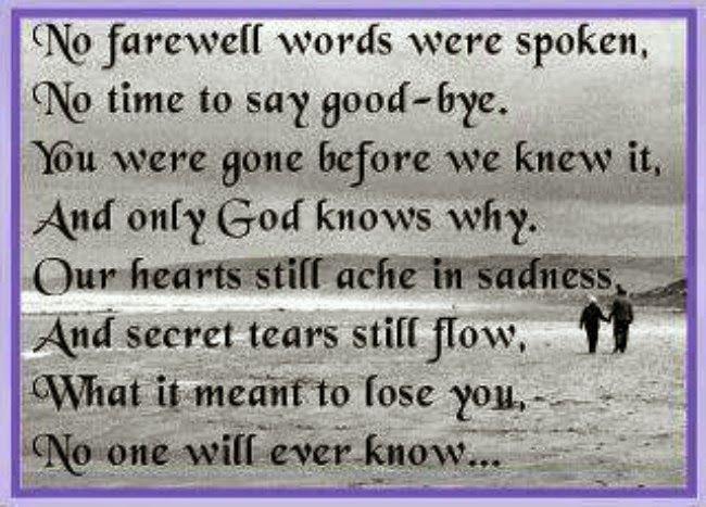 The Motivation Hotel: No farewell words were spoken. ♡17 months SON♡