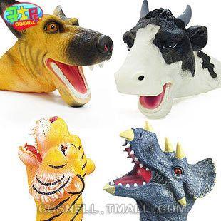 tiermodell handpuppe handschuhe weichen plastikspielzeug Verformung tier puppen spielzeug kinder spielzeug hände puppen