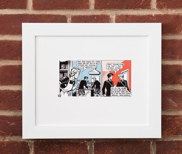 Fine Art Giclee print from restored original Bunty comic illustrations.