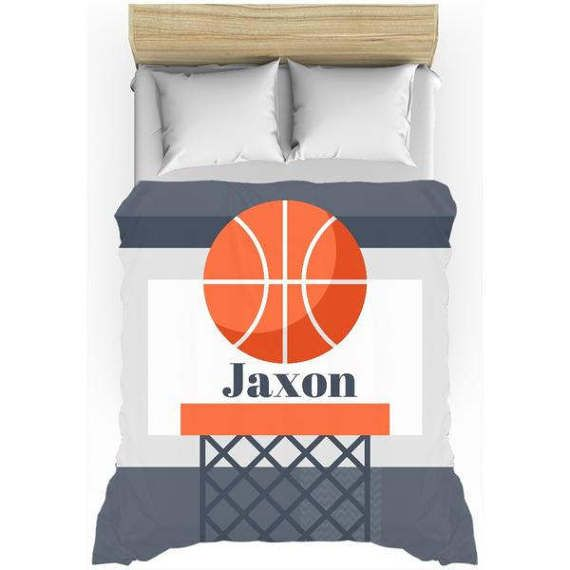 Basketball Bedding, Sports, Duvet Set, kids duvet set, toddler duvet sets, Duvet Cover, fun kids bedding, personalized bedding, twin duvet  Nothing says home comfort better than a custom printed duvet cover. Choose a design that complements your bedroom décor, or a photograph of your favorite memories. Available in twin, queen and king bed sizes, cream back color, and lightweight material construction. The lightweight duvet covers are 100% microfiber (front and back).  Browse our shop for…
