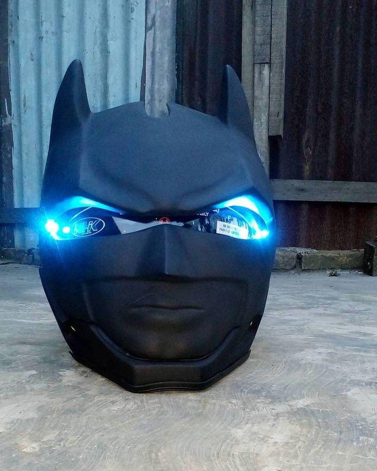 BATMAN BEGIN HELMET MOTORCYCLE STYLE DOT APPROVED #Unbranded #BATMAN