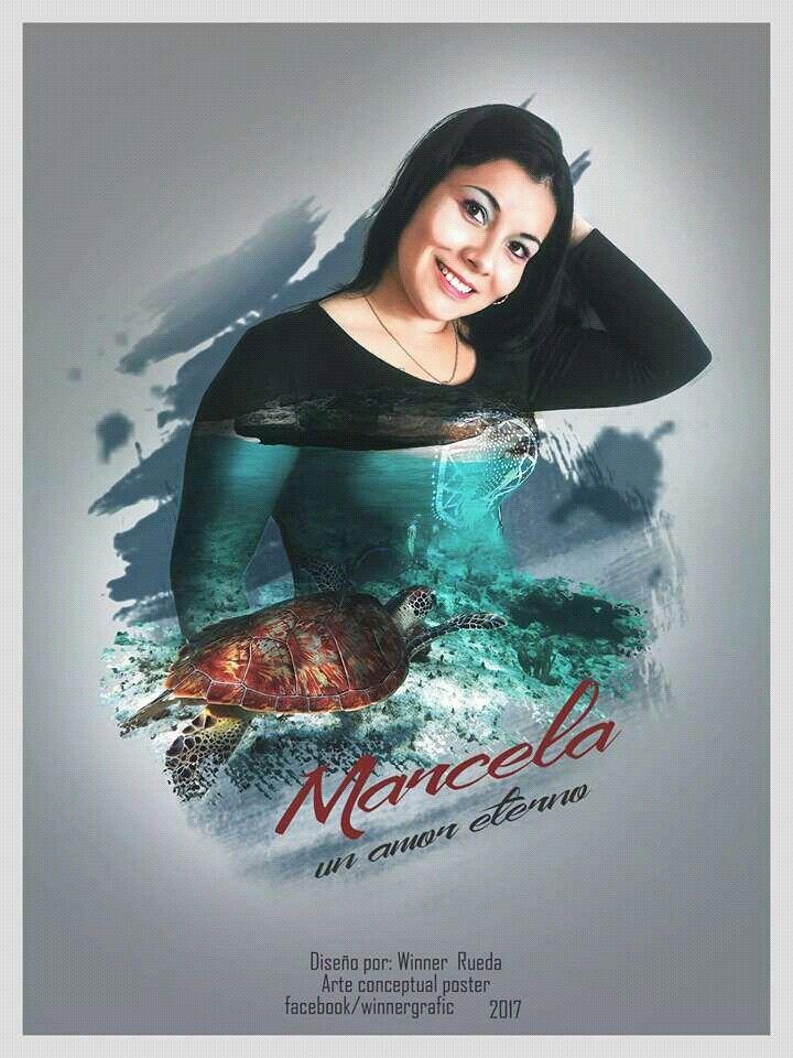 Marcela un amor eterno #photoshop  Superposición de imagenes