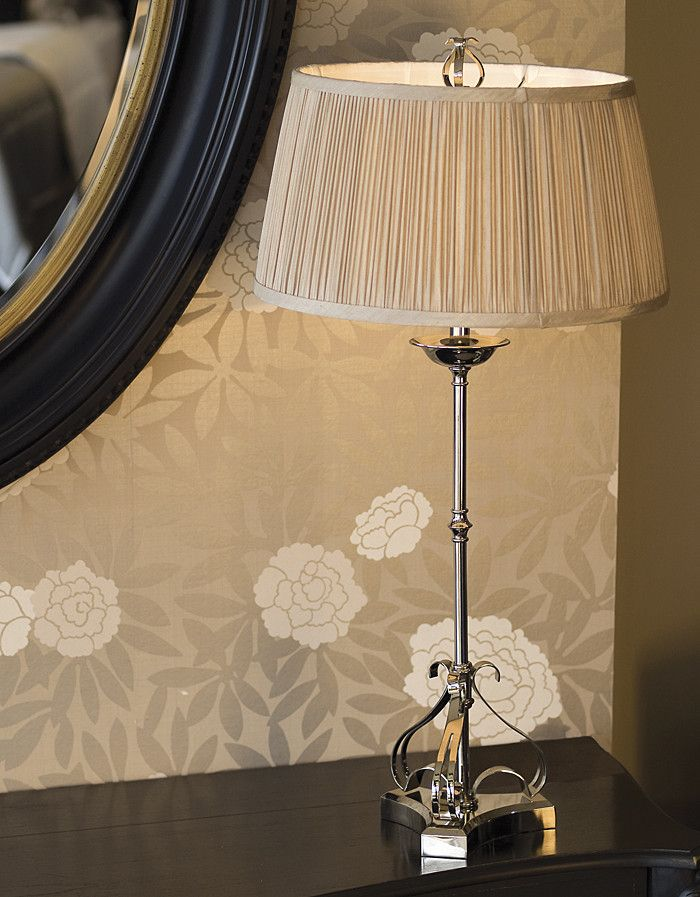 Zoya Nickel Table Lamp - Shimmer Grey | Temple & Webster