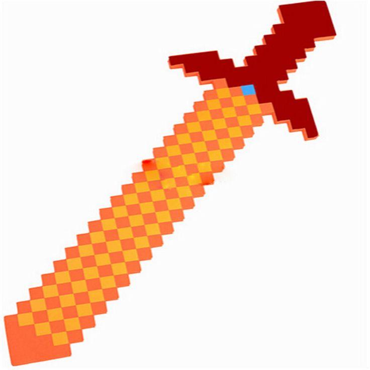 Minecraft Espada 76*20 cm de Colores 2016 Nuevo Estilo Mejor Regalo para Niños niño Niña bebé juguetes minecraft pistola y diamante jugador al aire libre