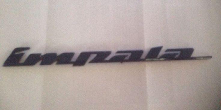 2000 - 2005 OEM Chevrolet Impala Trunk BLUE Emblem Badge Chevy SS LS #GeneralMotors