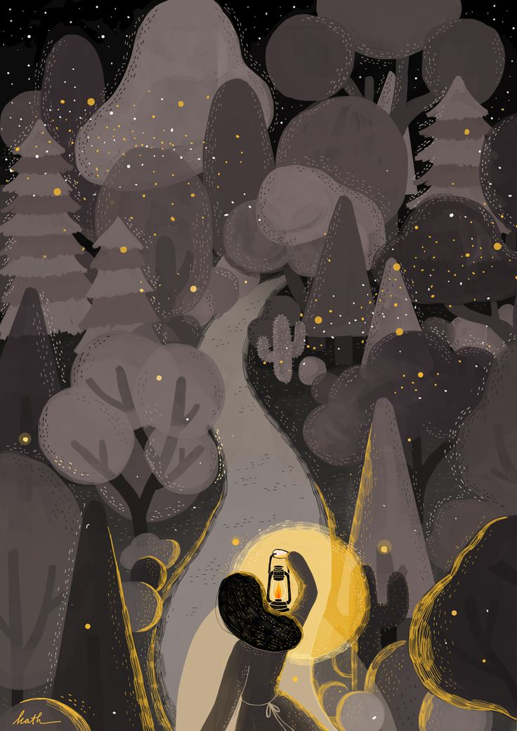 Illustration: The Light will guards you Home by Kathrin Honesta