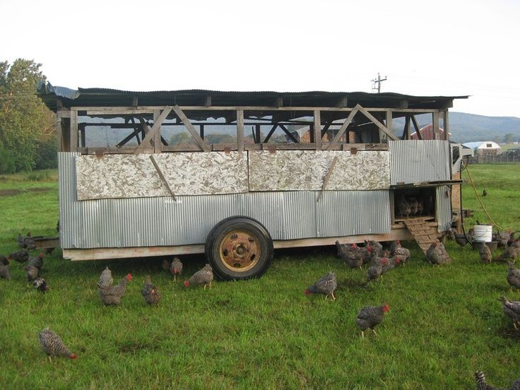 25 best mobile layer coops images on pinterest chicken for Mobile hen house plans