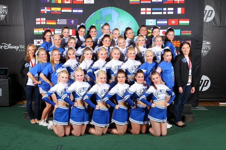 Cheerleading Team Finland 2012 in Florida  (pic by ICU )
