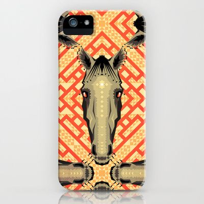 Horse Pattern No 1 iPhone & iPod Case by chobopop - $35.00