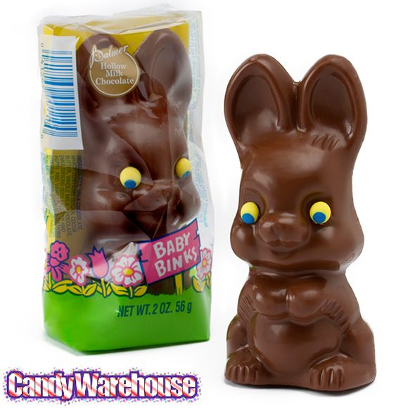 Baby Binks 2-Ounce Chocolate Easter Bunnies: 18-Piece Box