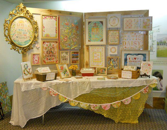 Beautiful craft stall display